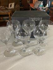 """6 Spiegelau Rossini 7 5/8"""" Crystal Water Goblets MIB Nice"""