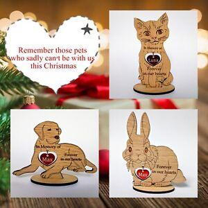 Personalised Christmas Decoration Pet Dog Cat Figures Memory Memorial Gift