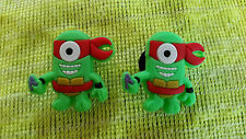 NINJA TURTLES MINIONS (pair) shoe charms/cake toppers!! FAST USA SHIPPING!!