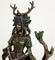 Antlered Guardian Goddess Of the Trees Statue Sculpture Bronze Finish
