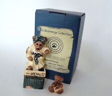 Boyds Bears Le Bearmoge Collection - Ms Griz Saturday Night Porcelain Hinged Box