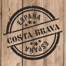 Vinilo de Corte Costa Brava Pegatina Costa Brava España 10 cm Adhesivo Pared