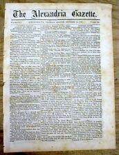 1863 newspaper w major Championship Boxing Match TOM KING DEFEATS JOHN C HEENAN