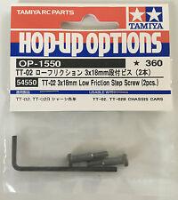 Tamiya 54550 TT-02 3x18mm Low Friction Step Screw (2 Pcs) (TT02/TT-02B) NIP