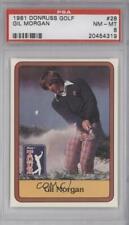 1981 Donruss Golf Stars Gil Morgan #28 PSA 8