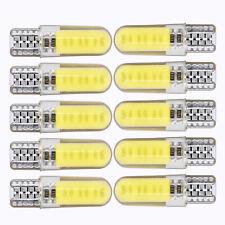 10pcs White T10 W5W 6000K LED Car Interior Lights COB Bulbs Wedge Parking Lights