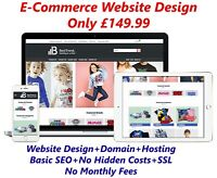 Website Design Email Domain & Hosting Included WordPress E-commerce Web Design