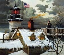 Charles Wysocki I hope Your Sea's are Calm S/N with Certificate Print