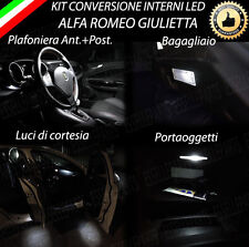 KIT LED INTERNI ALFA ROMEO GIULIETTA ANT + POST + LUCI CORTESIA + BAG 6000K