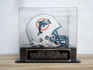 Steve Young Football Mini Helmet Display Case W/ A San Francisco 49ers Nameplate