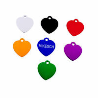 Personalized Engraved Pet Tag Dog ID Cat Heart Shaped Custom Aluminum Gift