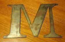 "Letter M Alphabet Metal Rustic 7-3/4"" Sign~Farmhouse Cabin Industrial Bar Barn"