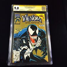 VENOM LETHAL PROTECTOR 1 CGC 9.8 GOLD FOIL COVER SS STAN LEE WHITE PAGES