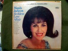 WANDA JACKSON RECKLESS LOVE AFFAIR 1967 RECORD CAPITOL ST 2704