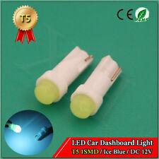 2X Light Lamp Bulb LED T5 1W Car Ice Blue Wedge Dashboard Gauge 12V 74 70 37 286