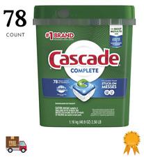 Cascade Complete ActionPacs Dishwasher Detergent Pods Fresh Scent 78 Count