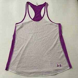 Under Armour Adult Semi Fitted Mesh Lightweight Athletic Womens Tank Top Large L