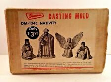 Duncan Ceramic Casting Mold Nativity Scene DM-134C 1964 Angel Wise Men