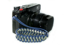 "Navy/Grey ""Shark"" Paracord Wrist Strap for DSLR Compact Cameras Fuji Canon Sony"
