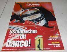 EQUIPE MAGAZINE N°729 1996 F1 SCHUMACHER FERRARI VILLENEUVE ESTORIL SKI SMIRNOV