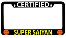 Black METAL License Plate Frame Certified Super Saiyan Accessory Dragon Ball 53