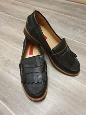 Womens Black Loafers London Rebel UK5