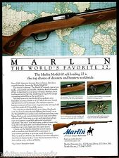 1997 MARLIN Model 60 Self-Loading .22 Rifle AD Collectible Hunting Advertising