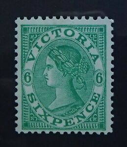 SG 423 - 1905 Victoria Dull Green 6d Sixpence Mint Stamp - Cat $50 - 46a