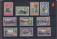 Ceylon KGV SG 368/378 Mounted Mint (1)