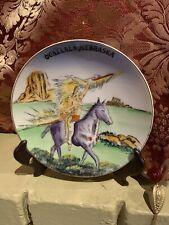 """Vintage Enco Souvenir Plate ( Siouxx Tribe ) Siouxx Warrior On Horseback  6"""""""