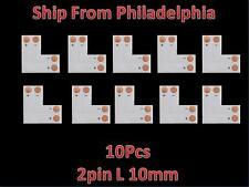 10pcs 5050 5630 10mm  L  Shape 2pin Adapters LED Strip Connectors No soldering