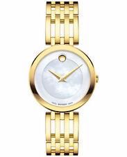 Movado 0607054 Gold Esperanza Museum Woman's Swiss Watch Mother of Pearl
