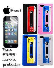 iPhone 5 5s Retro Cassette Tape Silicone Case Cover