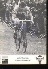 JACK MOURIOUX GAN MERCIER cyclisme ciclismo autographe