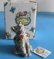 Kitten Candle Snuffer Blue Sky Clayworks Heather Goldminc Kitty w/ Rose NIB