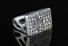 Vintage sterling Silver 925 Modernist Artisan 42 stones Ring Russia Russian 90'