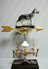 Weather Vane German Shepherd Heavy Duty Cast Aluminum Painted Complete Set Barn