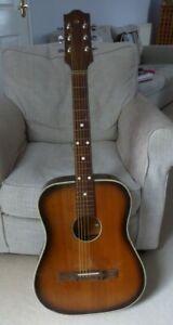 1970s vintage Defil Acoustic Guitar.