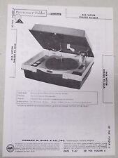 Sams Photofact Folder Radio Parts Manual RCA Victor Chassis RS-235A Record Play