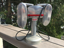 RCA Red Knob Drive-In Movie Speaker Set With Silver Table Top Pole and Base