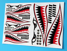 RC CAR FLYING TIGER SHARK TEETH MOUTH decal sticker idear for 1/10 10th scale