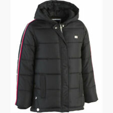 Tommy Hilfiger Girls Hooded Zip Up Puffer Jacket Black Size Small 7 MSRP $110.00