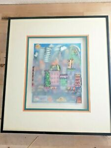 """Charles Fazzino """"N.Y.'S CRACKIN UP""""3-D Art Signed DEPICT SMOKE ON GLASS NEW YORK"""