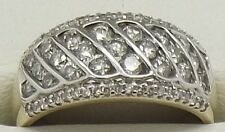 SOLID 10CT YELLOW GOLD 64 X NATURAL DIAMOND ENGAGEMENT/DRESS RING - VALUED $2965