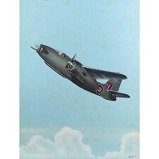 Old Douglas A-20 Havoc DB-7 Boston RAF P-70 Night Fighter Rétro gouache peinture
