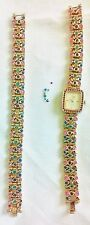 SUZANNE Somers multi color crystals working watch AND MATCHING BRACELET SET