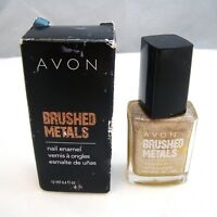 "Avon BRUSHED METALS Nail Enamel ""BRUSHED GOLD"" 12 ml 0.4 oz NEW NIB imp"