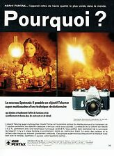 PUBLICITE ADVERTISING 0117  1971  Asahi Pentax appareil photo Spotmatic II Takum