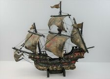 großes Schiffsmodel Santa Maria Holz Segelschiff Martim Deko vintage #203631