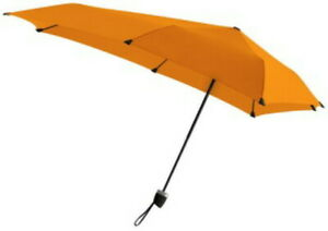 Senz Manual Umbrella Charged Orange NIP ~ MSRP $52 Withstands up to 49 mph wind